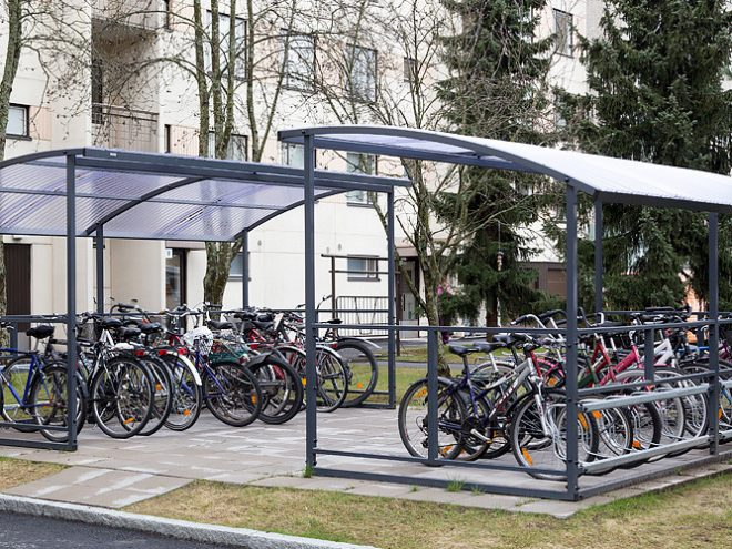 Крытая многоместная парковка