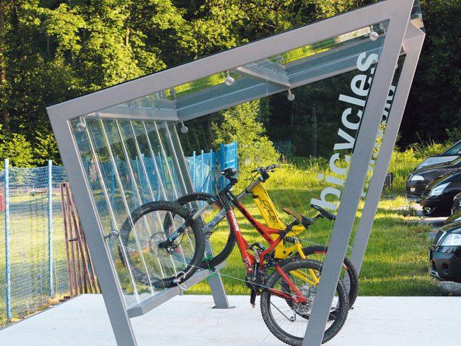 Крытая стильная велопарковка